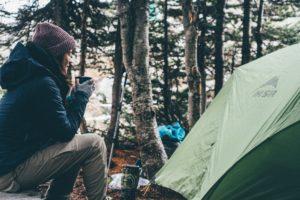 テントとコーヒー