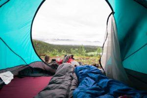 テントの中は